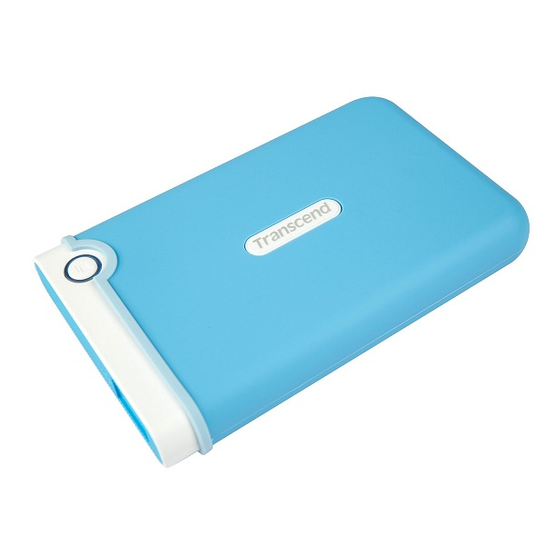 Transcend StoreJet 1 TB Auto Backup Drive Light Blue