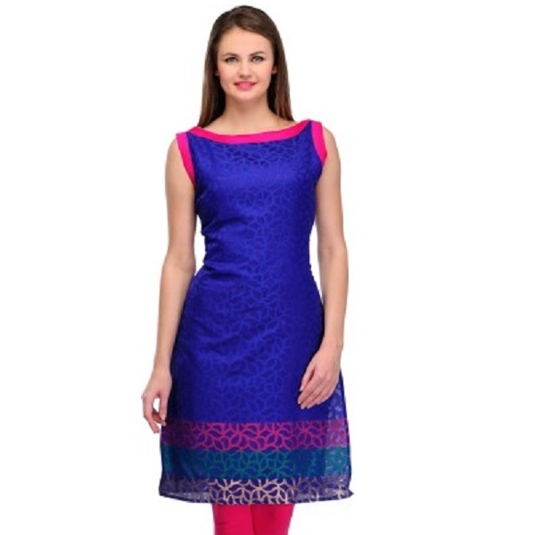 Cenizas Casual Self Design Womens Kurti