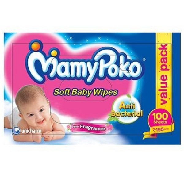 Mamy Poko Baby Wipes 100 Count
