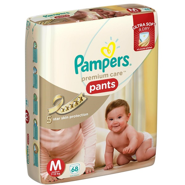 Pampers Pants Diapers Ultra Soft And Dry Medium 68 Pieces