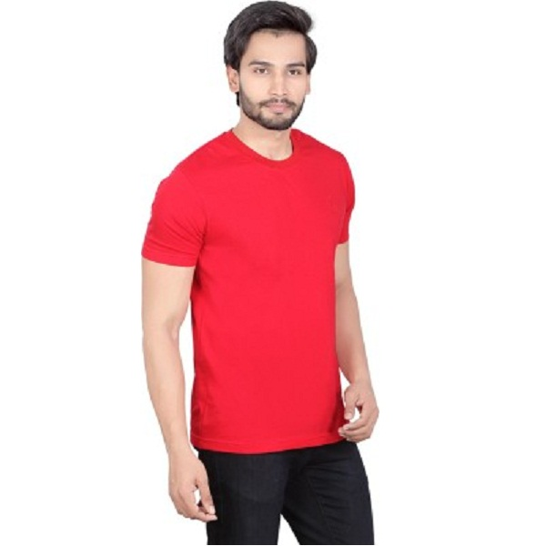 LUCfashion Solid Mens Round Neck TShirt