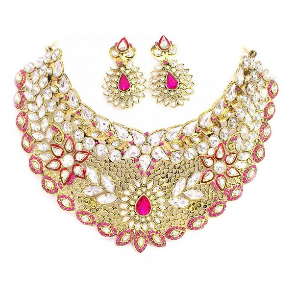 Zaveri Pearls Graceful Floral Necklace Set for Women