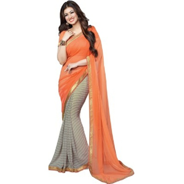 ARYA FASHION Self Design Bollywood Georgette Sari