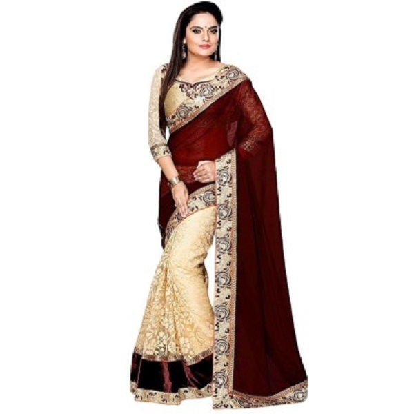 Payal Fashion Self Design Fashion Georgette Sari