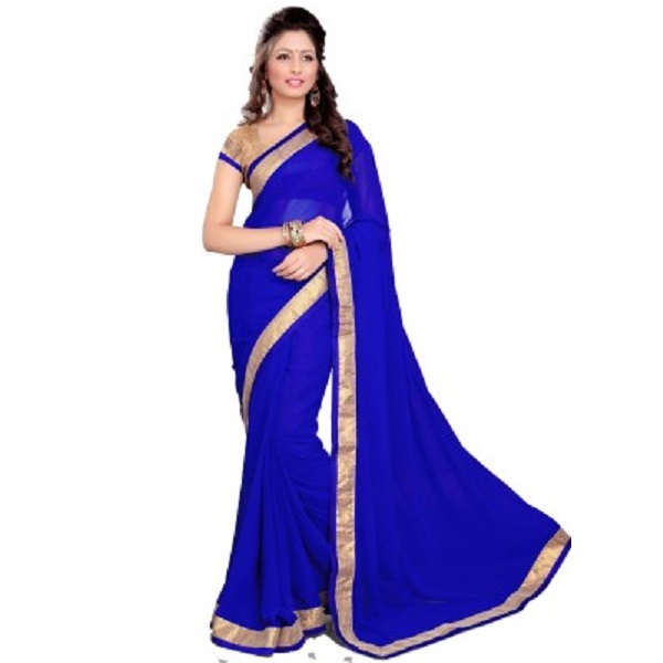 Sourbh Sarees Self Design Fashion Georgette Sari