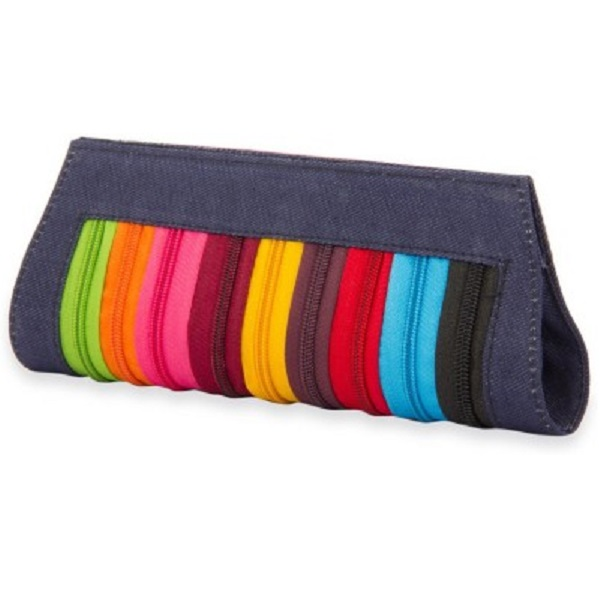 SkyWays Women Casual Multicolor Fabric Clutch