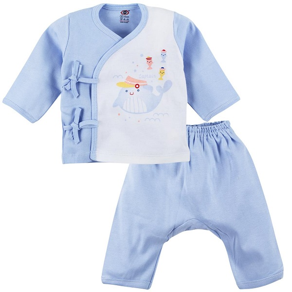 Zero Printed Full Sleeves Tie Up Vest With Diaper Leggings