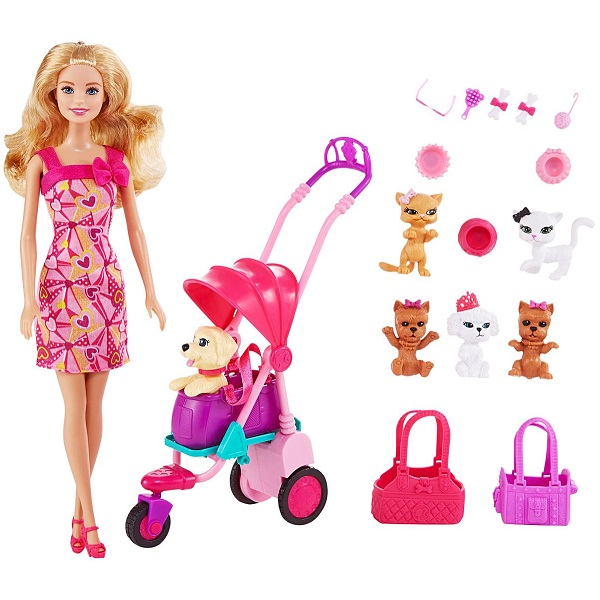Barbie Adorable Pets Doll