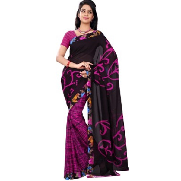 Florence Printed Fashion Synthetic Georgette Sari