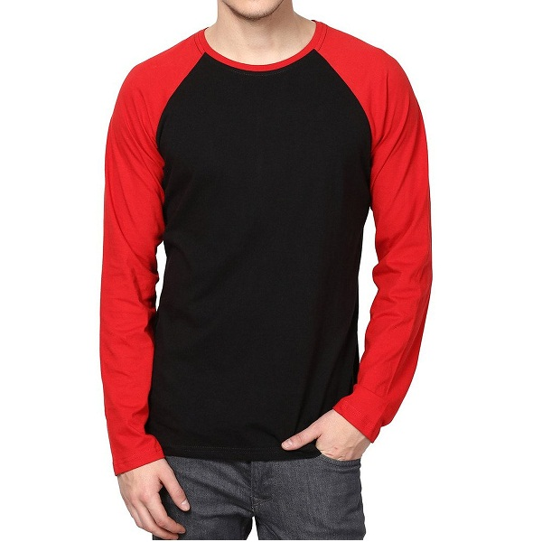 IZINC Mens Raglan Neck Full Sleeve Cotton TShirt