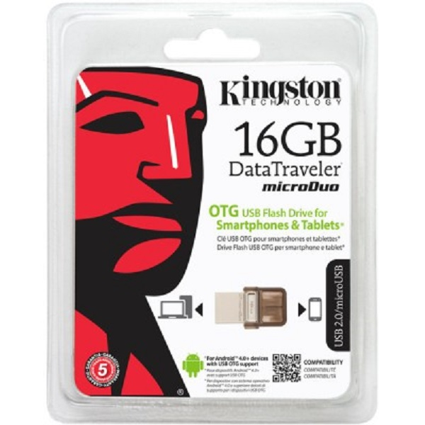 Kingston Data Traveler MicroDuo 16 GB On The Go Pendrive