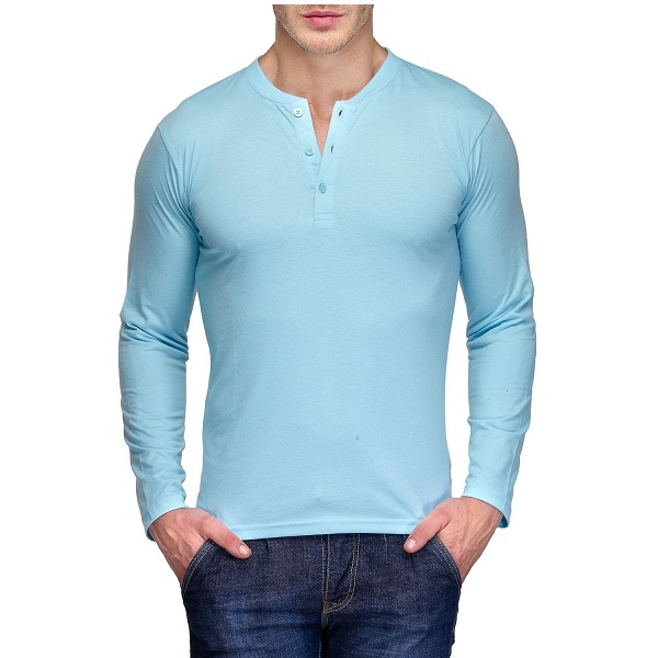 TSX Mens Cotton Henley T Shirt