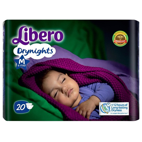 Libero Diaper Dry Nights Medium 20 Pieces