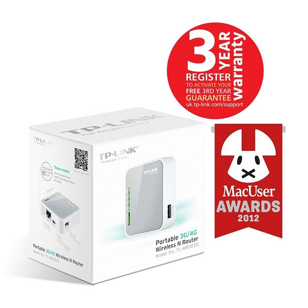 TP Link TL MR3020 Mini Pocket Wireless Router