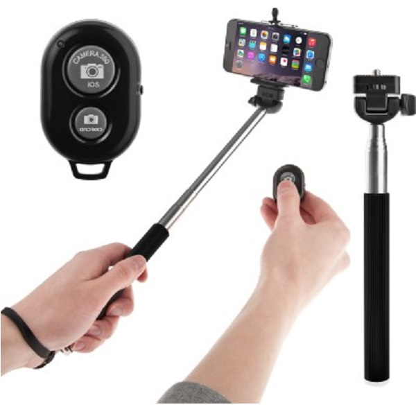 Voltaa Black Bluetooth Remote Selfie Stick