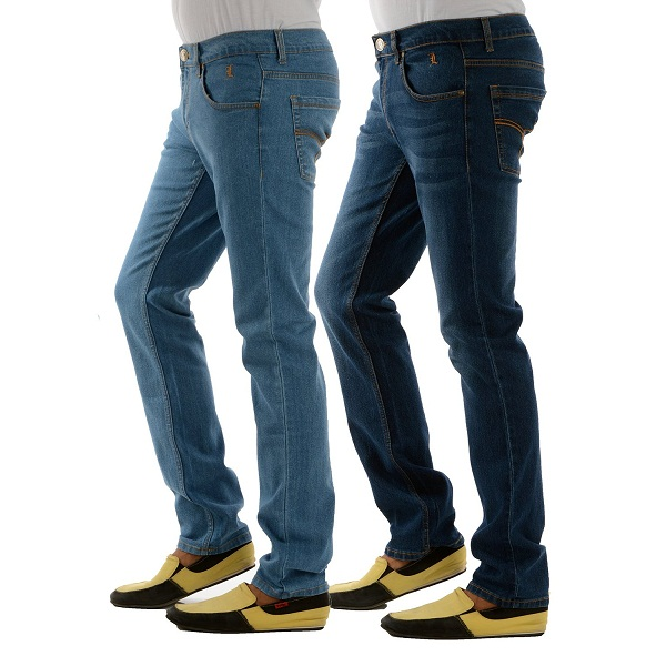 London Jeans Mens Slim Fit HIGH FASHION stretch jeans pack of 2