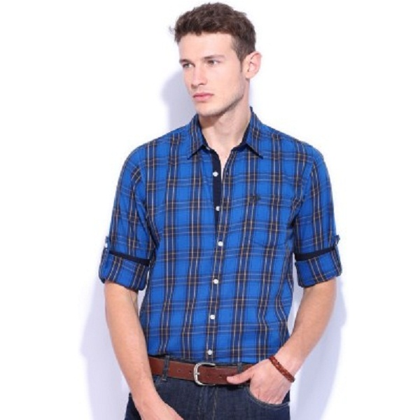 Roadster Mens Checkered Casual Shirt
