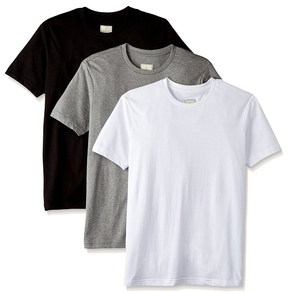 XESSENTIA Mens Pack of Three Crew Neck Tees