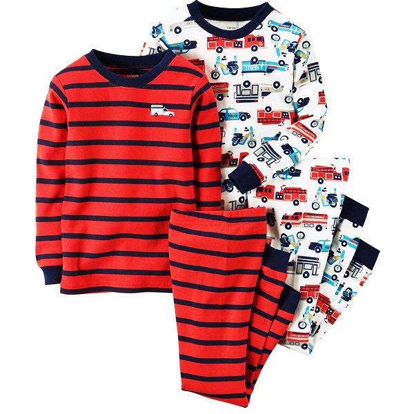 Carters Infant Boys 4 Pcs Nightwear Set