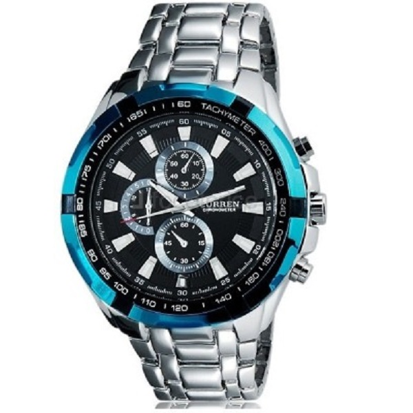 Curren Cur Blue Decker Analog Watch For Men