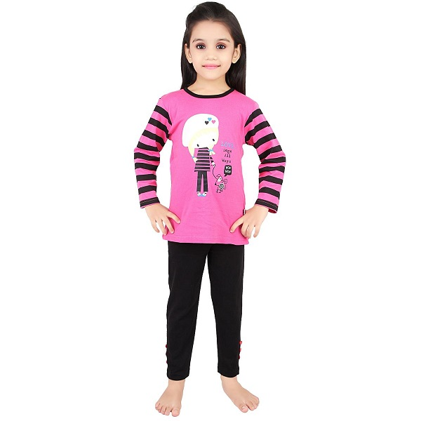Punkster Love Dogs All Ways Full Sleeves Tee With Pyjama