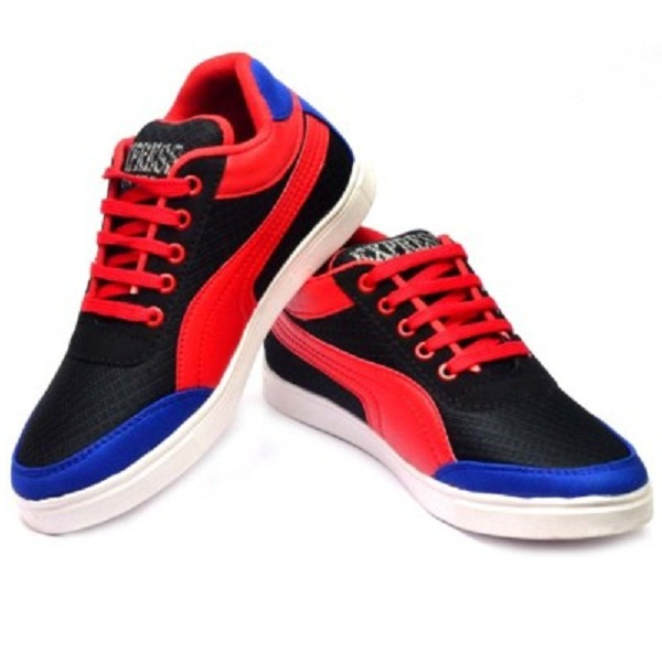 Vogue Guys Black Red Casuals