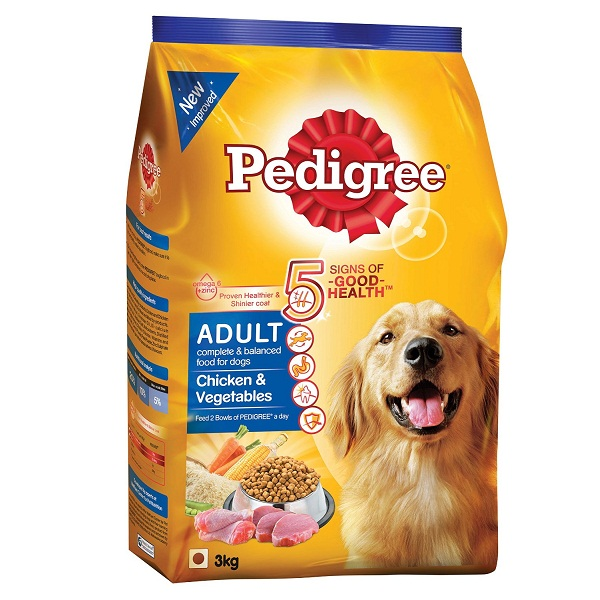 Pedigree Adult Dog Food Chicken and Vegetable 3 kg