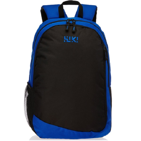 Wildcraft Polyester Blue and Black Laptop Backpack