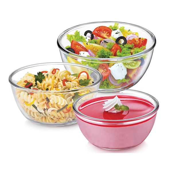 Cello Ornella Glass Mixing Bowl Set 3 Pieces
