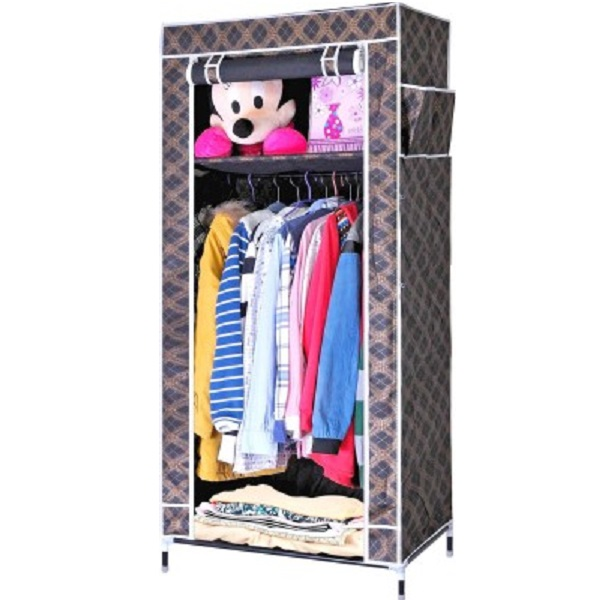 Evana Carbon Steel Collapsible Wardrobe