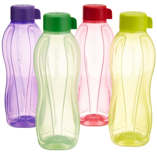 Tupperware Aquasafe Water Bottle Set of 4