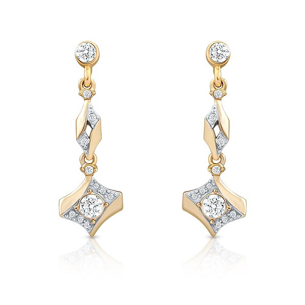 Oviya Gold Plated Dazzling Arc Earrings