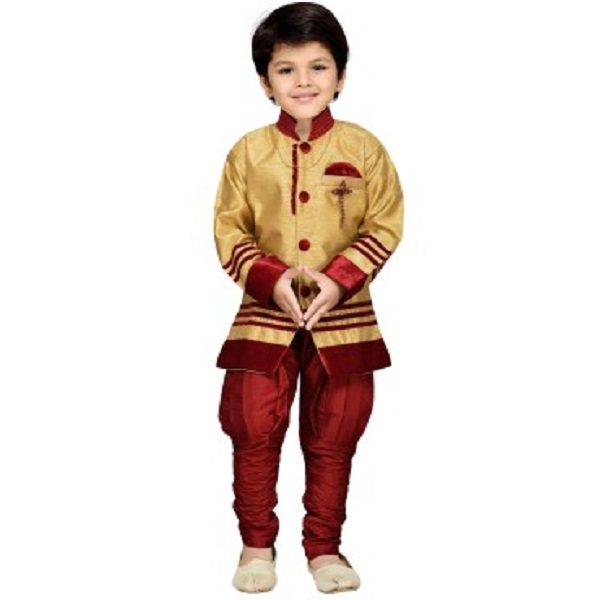 AJ Dezines Baby Boys Sherwani and Churidar Set