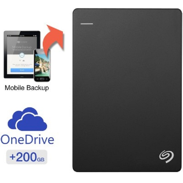Seagate Backup Plus Slim 1 TB External Hard Drive with 200 GB Cloud Storage